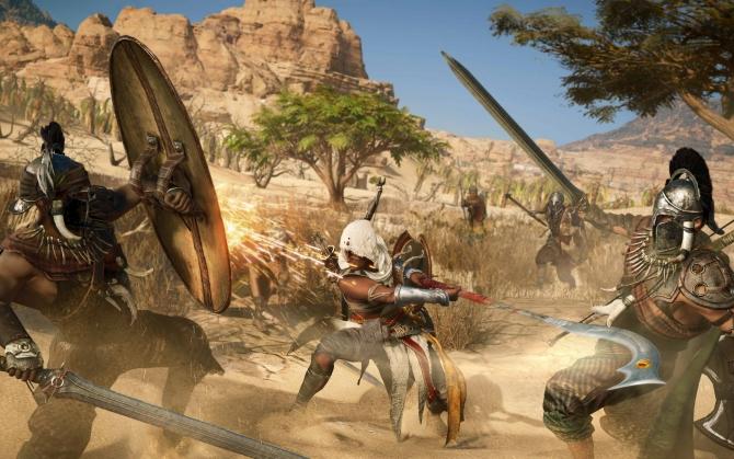 Assassin's Creed Origins бой