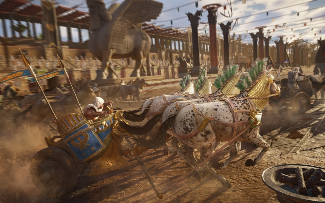 Assassin's Creed Origins гонка на колесницах
