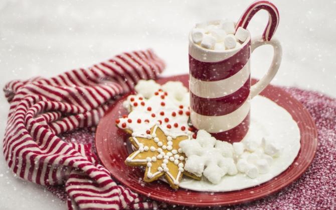 Какао с зефиром на Новый год