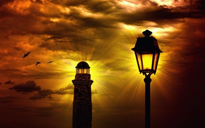 Фонарь и маяк