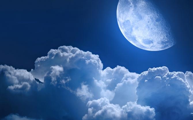 Облака и луна