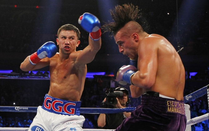 Геннадий Головкин на ринге
