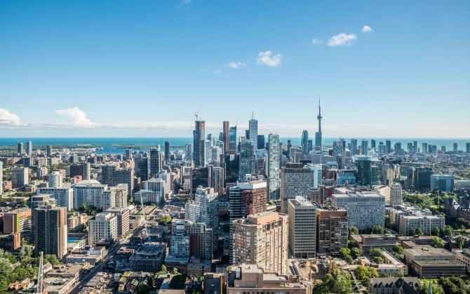 Торонто вид сверху