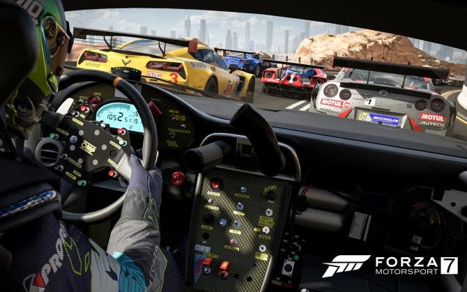 Forza Motorsport 7 вид из машины