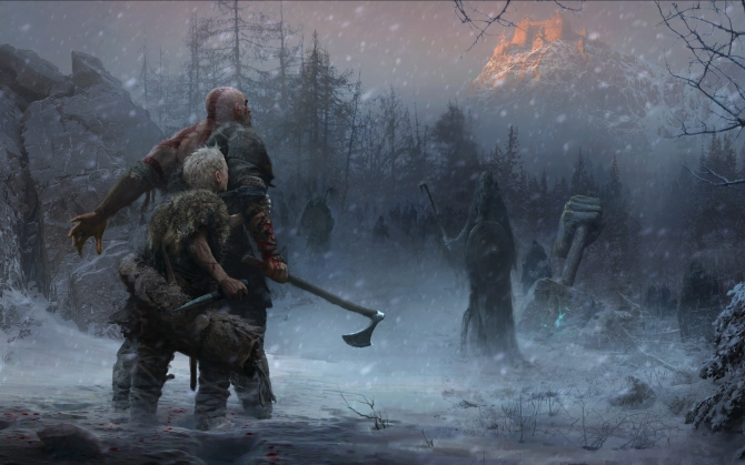 God of War 4 концепт арт