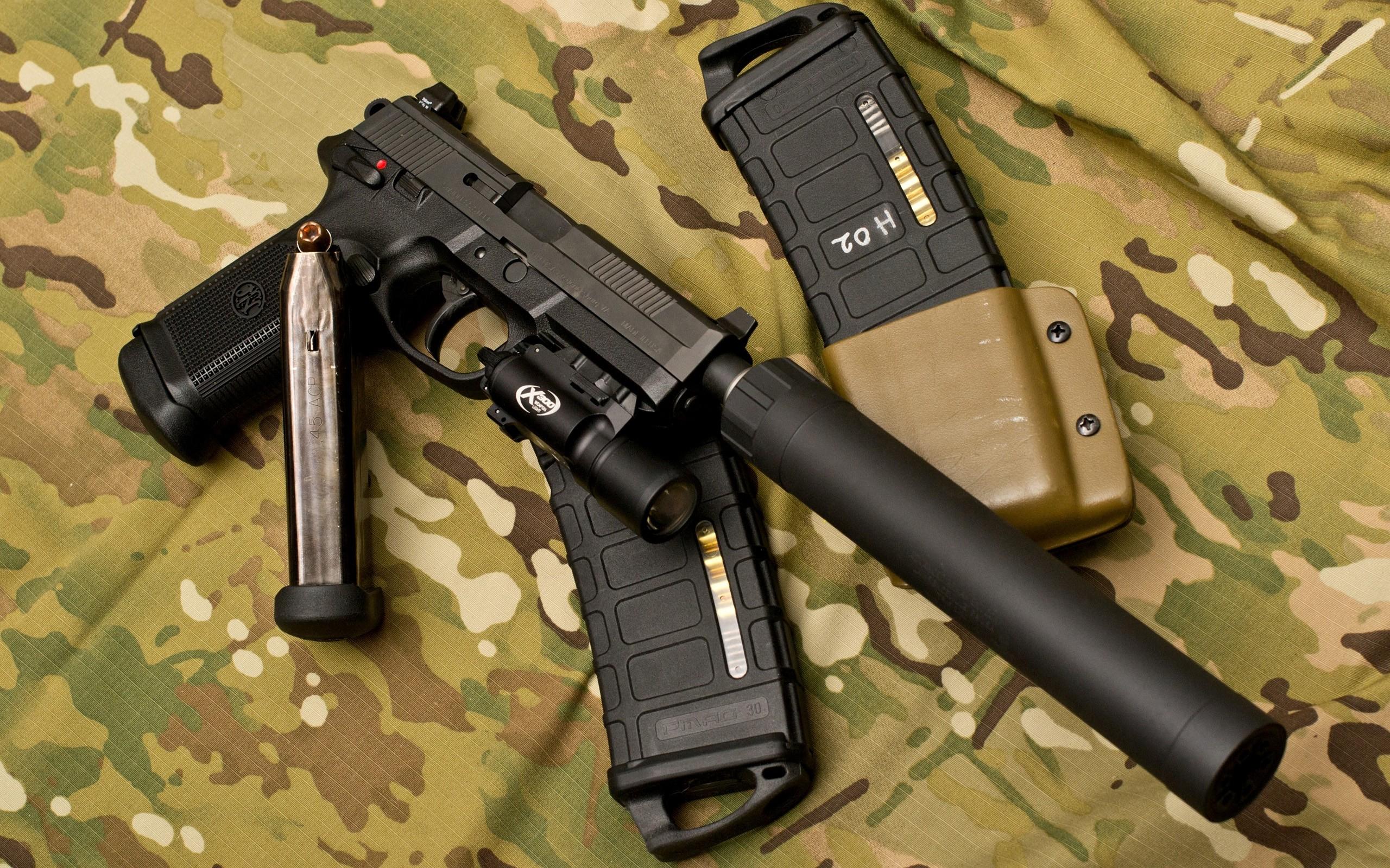 Pubg Wallpaper Flare Gun: Пистолет с глушителем обои для рабочего стола, картинки и