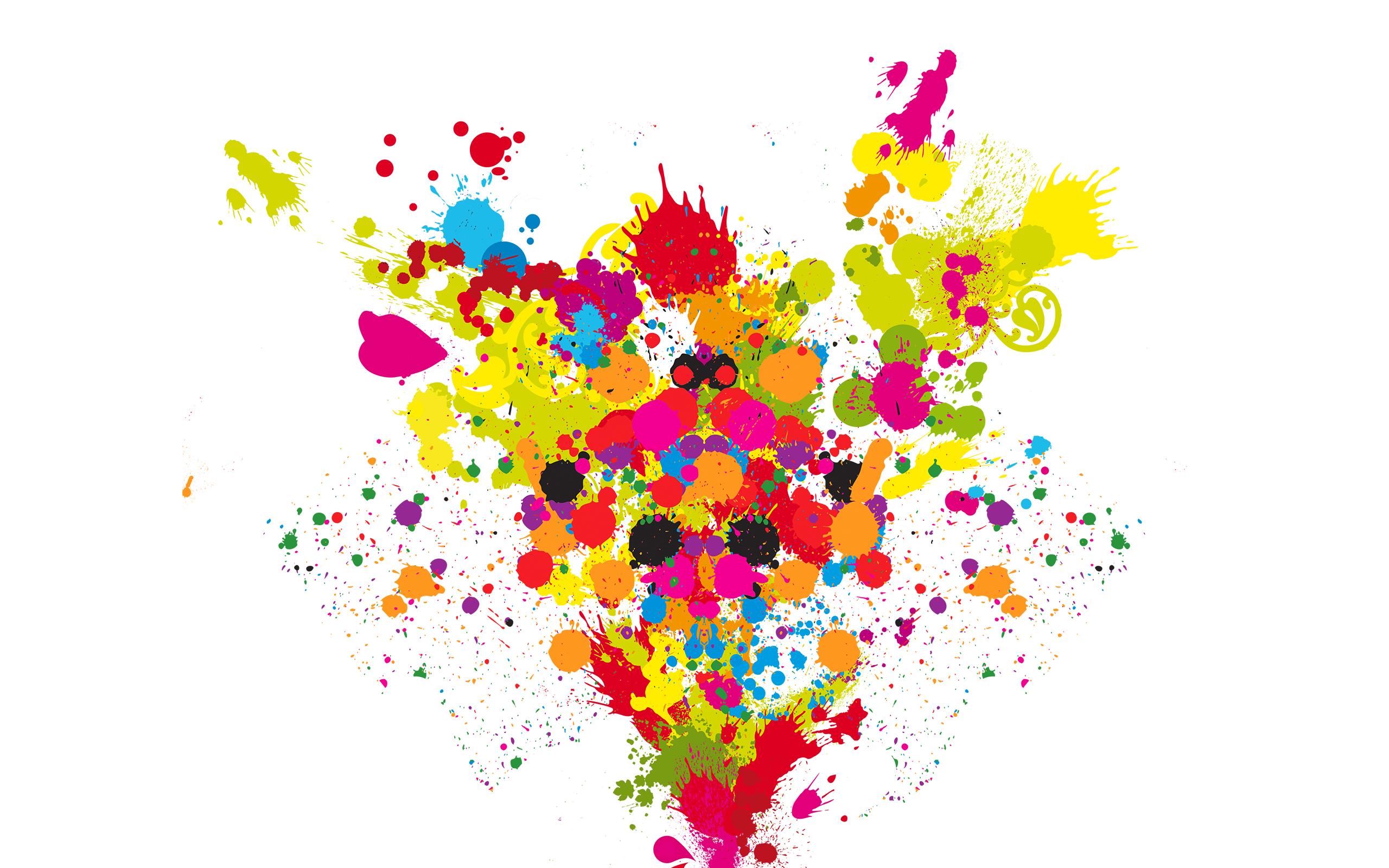 Обои брызги, краски, краска , раздел Рендеринг, размер / брызги краски фото