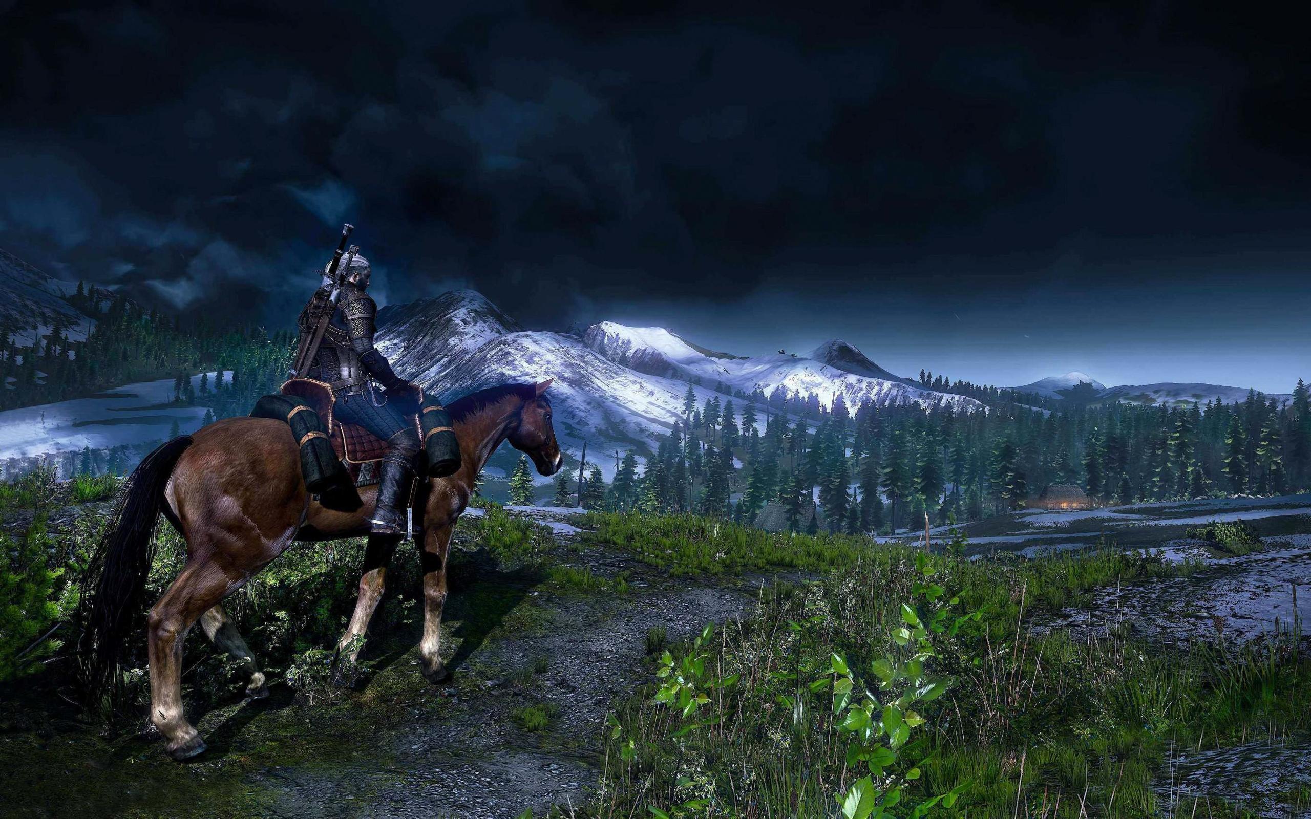 Vedmak 3 Geralt Na Kone Oboi Dlya Rabochego Stola Kartinki I Foto