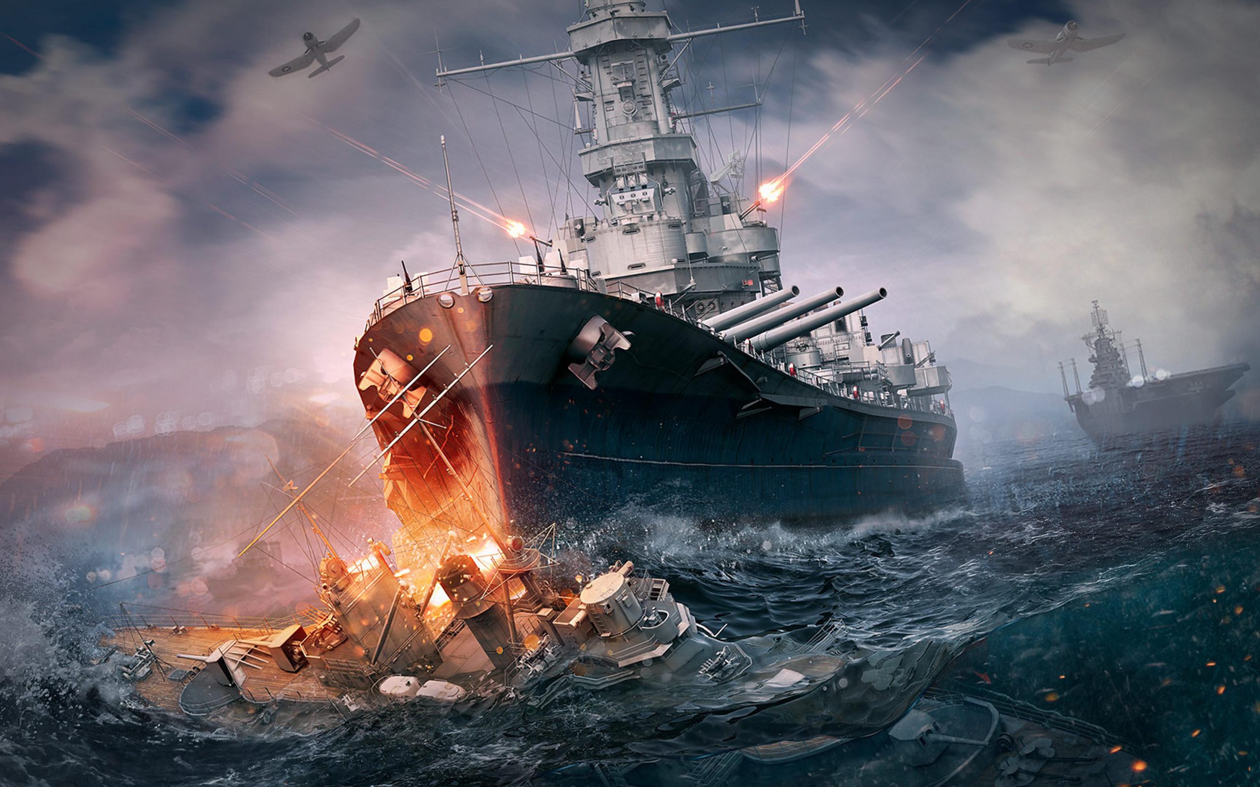Обои мир кораблей, wows, wargaming net, выстрел, wg, пламя. Игры foto 16