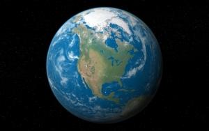 Планета Земля на черном фоне