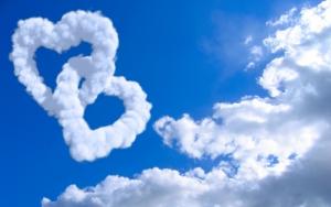 Сердечки облака