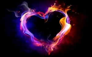 Сердечко из огня