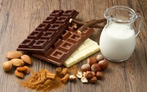 Виды шоколада: черный, молочный и белый