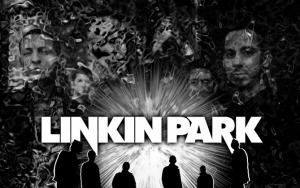 Linkin Park черно-белое фото