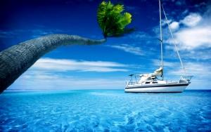 Яхта тропиках