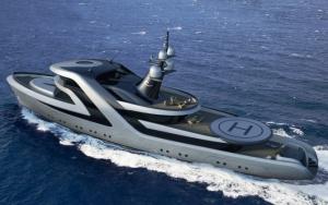 Концепт роскошной яхты
