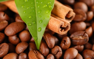 Зерна кофе и корица
