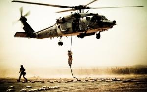 Высадка с военного вертолета