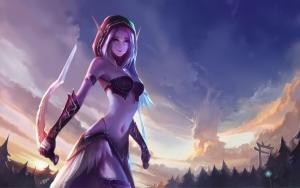 Боевая эльфийка