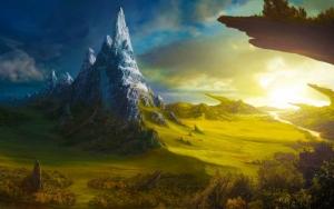 Рассвет в фэнтезийном мире