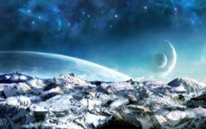 Горы на фэнтези планете