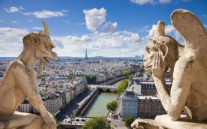 Гаргульи и Сена в Париже