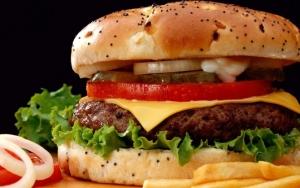 Гамбургер крупным планом