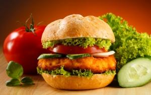 Красивый гамбургер
