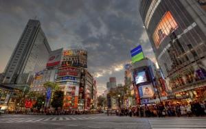 Оживленный перекресток Токио