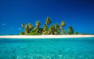 Остров, пальмы и песок