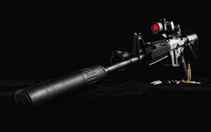 Черная снайперская винтовка
