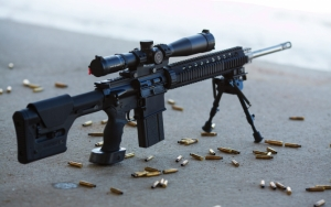 Снайперская винтовка с патронами