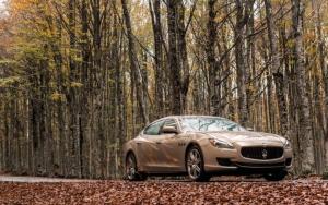 Maserati Ghibli в лесу