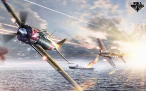 World of Warplanes бой над морем