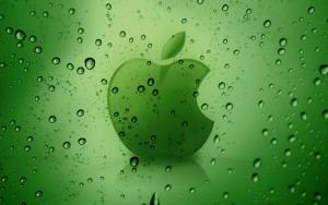 Apple зеленый логотип