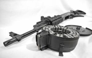Пулемет с круглым магазином