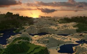 Закат в Minecraft