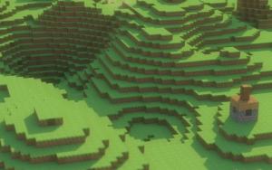 Пейзаж Minecraft