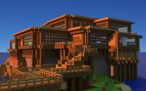 Огромный дом в Minecraft