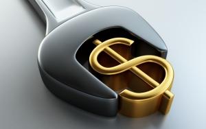 Золотой знак доллара