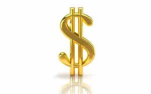 Золотой значок доллара