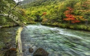 Река между гор