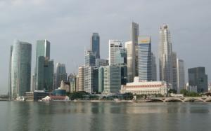 Сингапур вид с моря