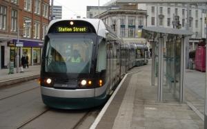 Трамвай на оставновке