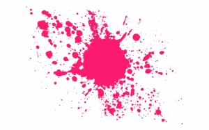 Брызги розовой краски