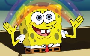 Губка Боб с радугой