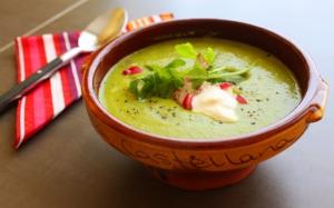 Суп пюре со сметаной