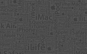 Текстура надписи Apple
