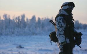 Российский солдат в зимней форме