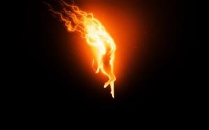 Огненная девушка